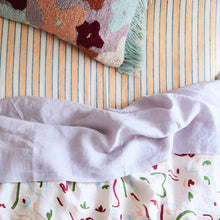 Load image into Gallery viewer, Sage & Clare Mathilde Stripe Fitted Sheet - Cantaloupe