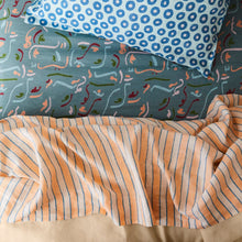 Load image into Gallery viewer, Sage & Clare Mathilde Stripe Flat Sheet - Cantaloupe