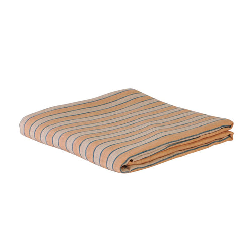 Sage & Clare Mathilde Stripe Fitted Sheet - Cantaloupe