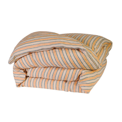Sage & Clare Mathilde Stripe Quilt Cover - Cantaloupe