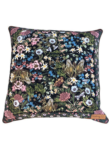 Wandering Folk Native Wildflower Cushion Cover - Small