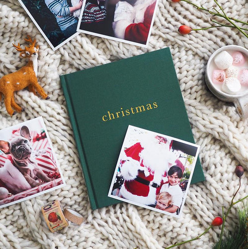 Write To Me Family Christmas Book - Forest Green