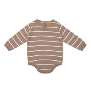 Miann & Co - Praline Stripe Long Sleeve Bodysuit