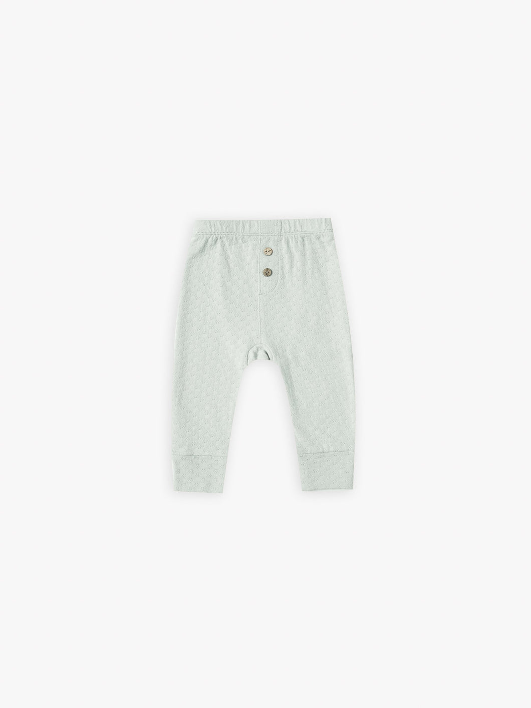 Quincy Mae Pointelle Pyjama Pant - Sea Glass
