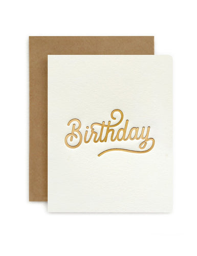 Bespoke Letter Press Petite Card 'Birthday'