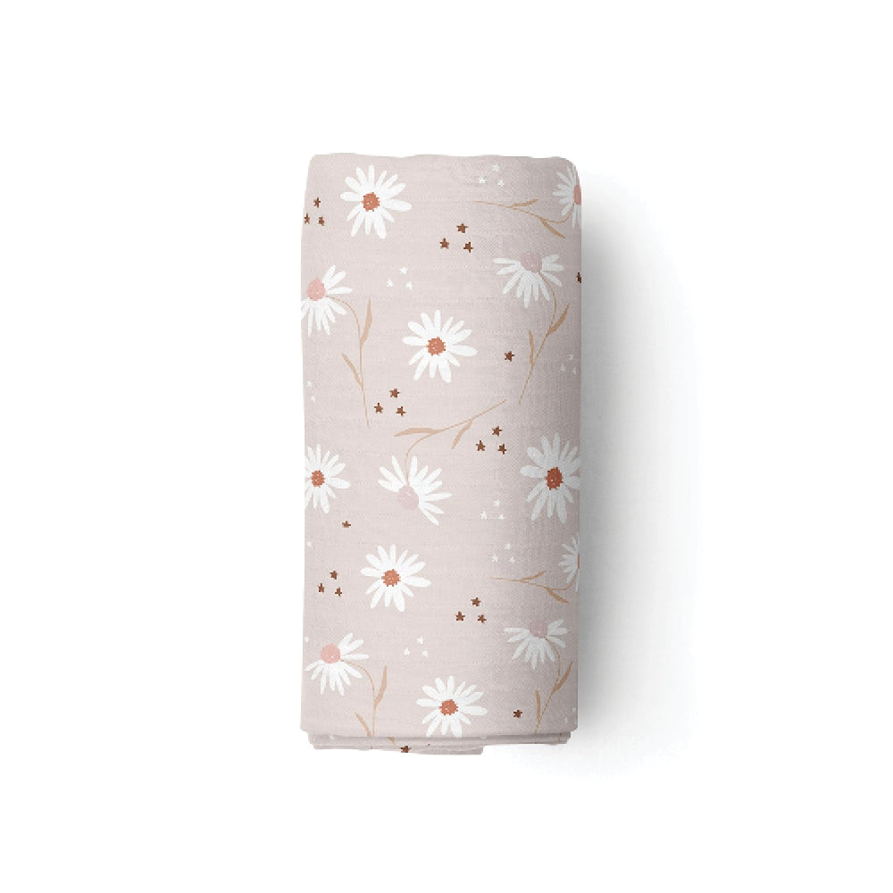 Bamboo Swaddle/Blanket - Daisy Fields
