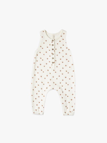 Quincy Mae Sleeveless Jumpsuit - Ivory/ Peach