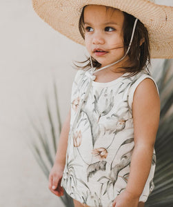 Rylee + Cru - Tropical Bubble Onesie - Coconut