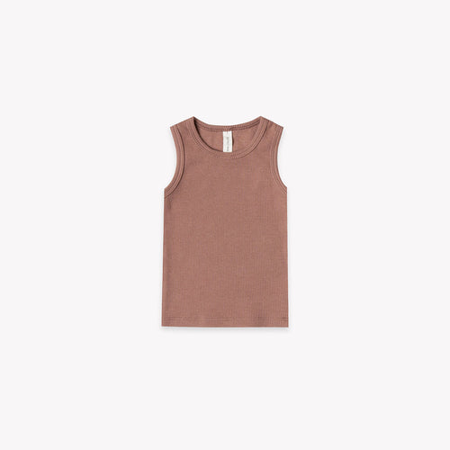 Quincy Mae - Ribbed Baby Tank - Clay