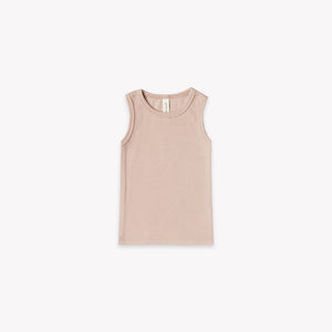 Quincy Mae - Ribbed Baby Tank - Rose