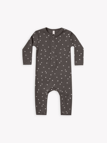 Quincy Mae Ribbed Baby Jumpsuit - Coal