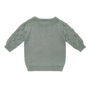 Sage Dot Sleeve Jumper