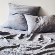 Load image into Gallery viewer, Sage & Clare- Linen Flat Sheet- Chambray