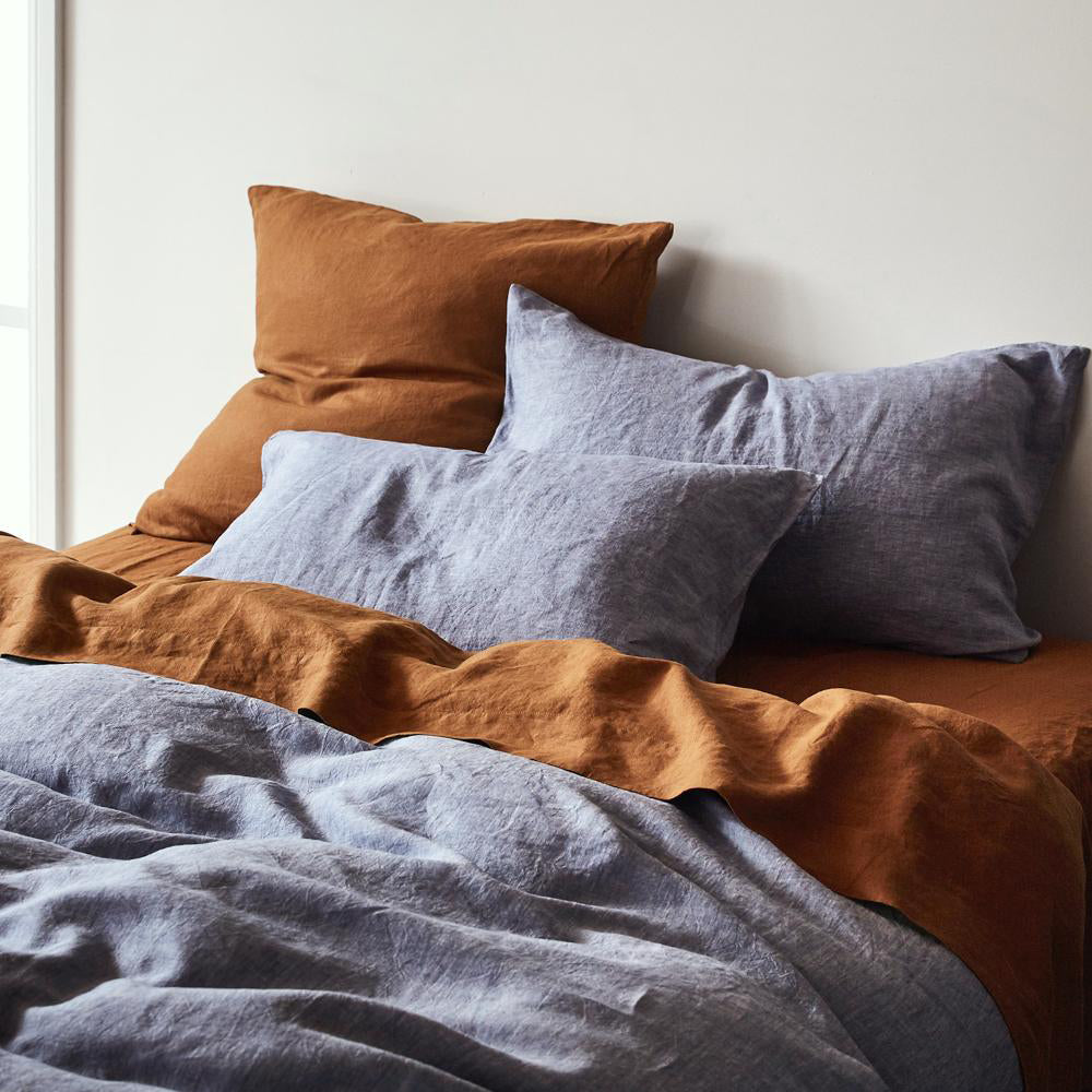 Sage Clare Linen Quilt Cover Chambray The Marigold Merchant