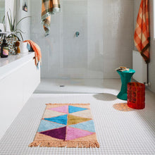 Load image into Gallery viewer, Sage & Clare Issy Harlequin Bath Mat