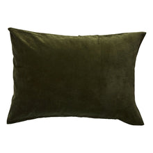 Load image into Gallery viewer, Sage & Clare Simo Velvet Pillowcase - Khaki