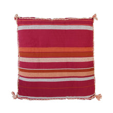 Load image into Gallery viewer, Sage & Clare Santiago Woven Floor Cushion - Cherry