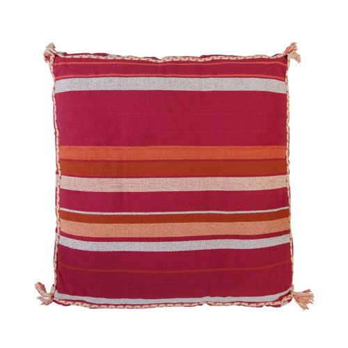 Sage & Clare Santiago Woven Floor Cushion - Cherry