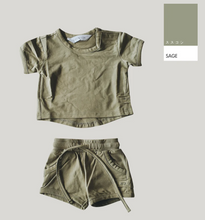 Load image into Gallery viewer, Susukoshi Organic Boxy Tee - Sage