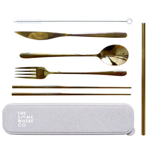 The Somewhere Co. Take Me Away Cutlery Kit - Gold