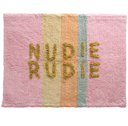 Sage and Clare Bubblegum Nudie Rudie Bathmat