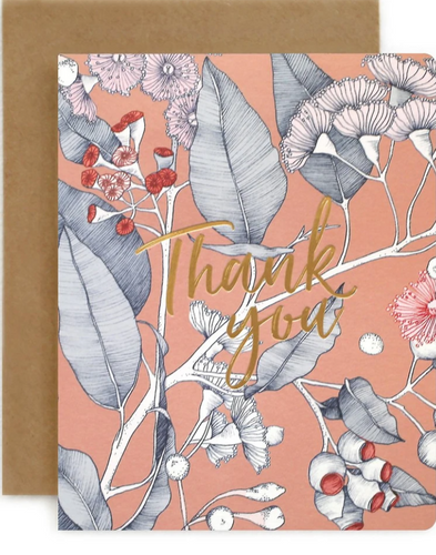 Bespoke Letterpress Native 'Thank You' Card