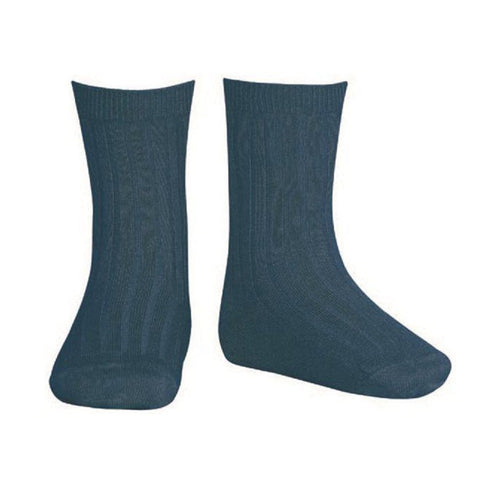 Short Ribbed Socks- Oceano