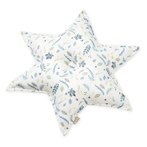 Cam Cam Star Cushion - Pressed Leaves Blue