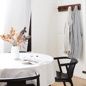 Linen Tablecloth- Blue Stripe