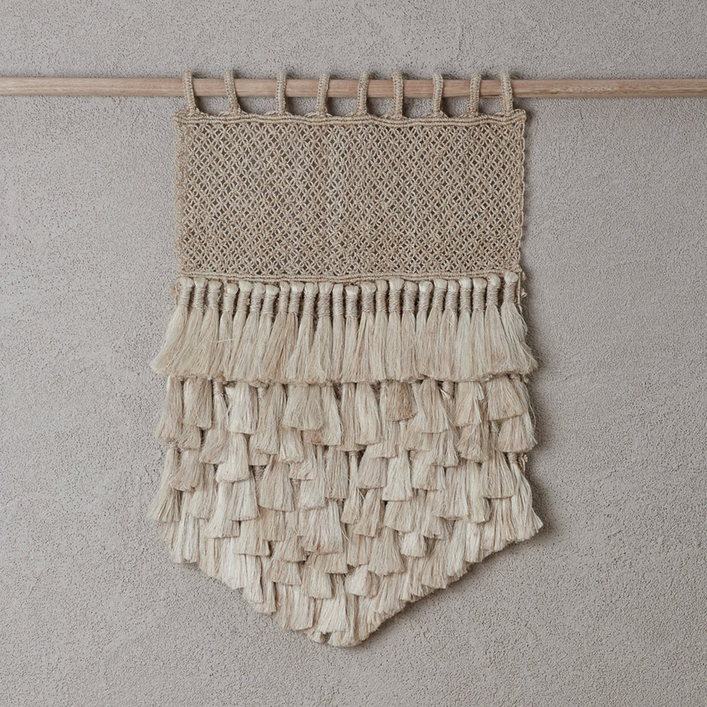 The Dharma Door- Jute Wall Hanging w/ Tassels