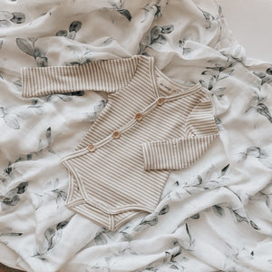 Two Darlings Fawn Stripe Bodysuit