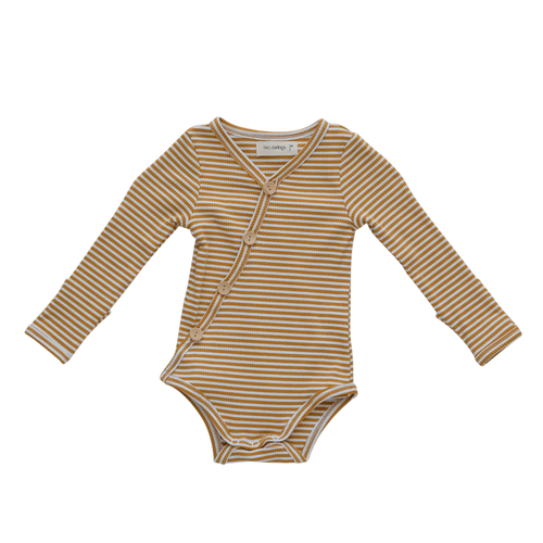 Two Darlings Mustard Stripe Bodysuit