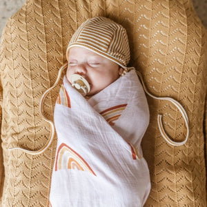 Two Darlings Rainbow Bamboo Swaddle