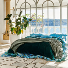 Load image into Gallery viewer, Kip & Co - Alpine Green Velvet Quilt Cover - Queen