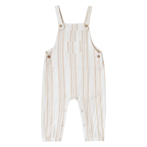 Rylee + Cru - Sand Striped Baby Overall