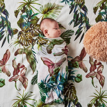 Load image into Gallery viewer, Kip & Co - Foliage & Cloudy Days Bamboo Baby Swaddle Set