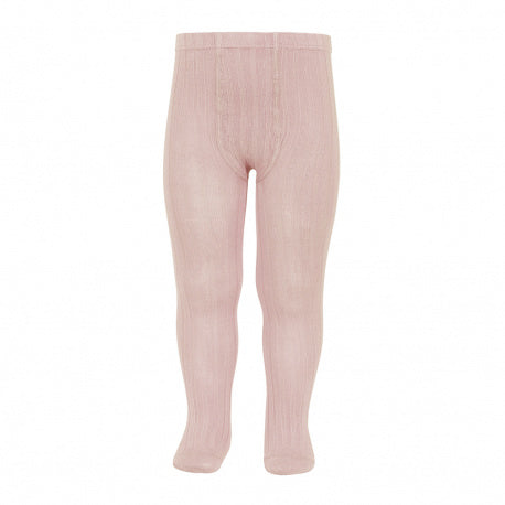 Condor Ribbed Tights - Rosa Empo/Old Rose