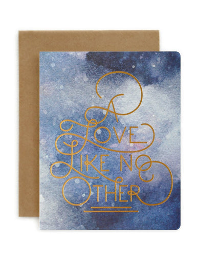 Bespoke Letter Press 'A Love Like No Other'