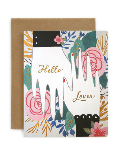 """Bespoke Letter Press 'Hello Lover'  card"