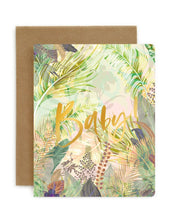 Load image into Gallery viewer, Bespoke Letterpress Jungle 'Baby' Card