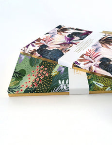 Bespoke Letterpress- 2 Pack Notebooks- Jungle