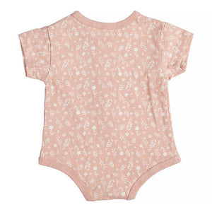 Miann & Co- Blossom Print Short Sleeve Body Suit