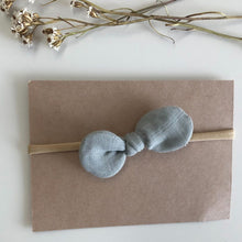 Load image into Gallery viewer, Luna's Treasures Muslin Bow Headband - Soft Sage