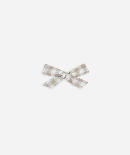 Rylee + Cru Bow With Clip - Gingham