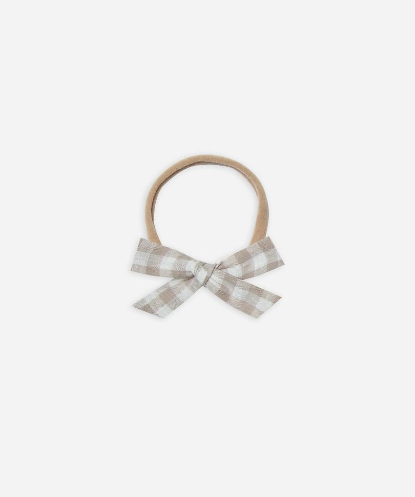 Rylee + Cru Bow With Headband - Gingham