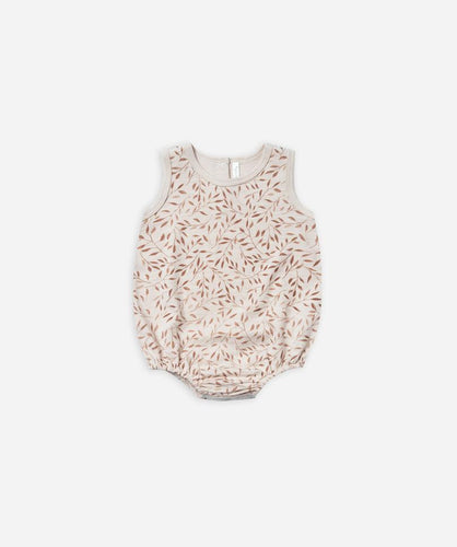 Rylee + Cru Vines Bubble Onesie - Wheat