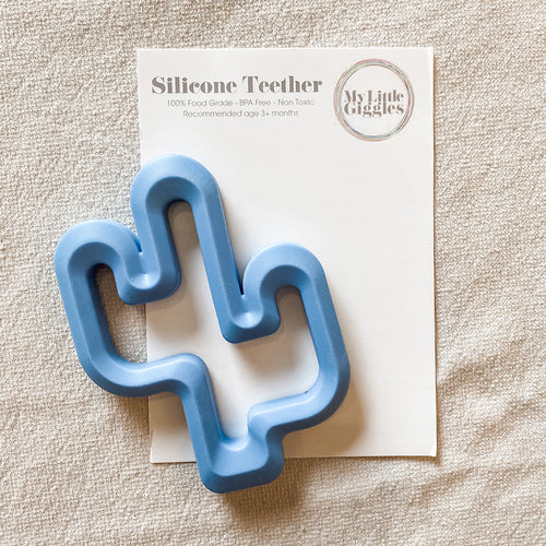 My Little Giggles Cactus Teether - Powder Blue