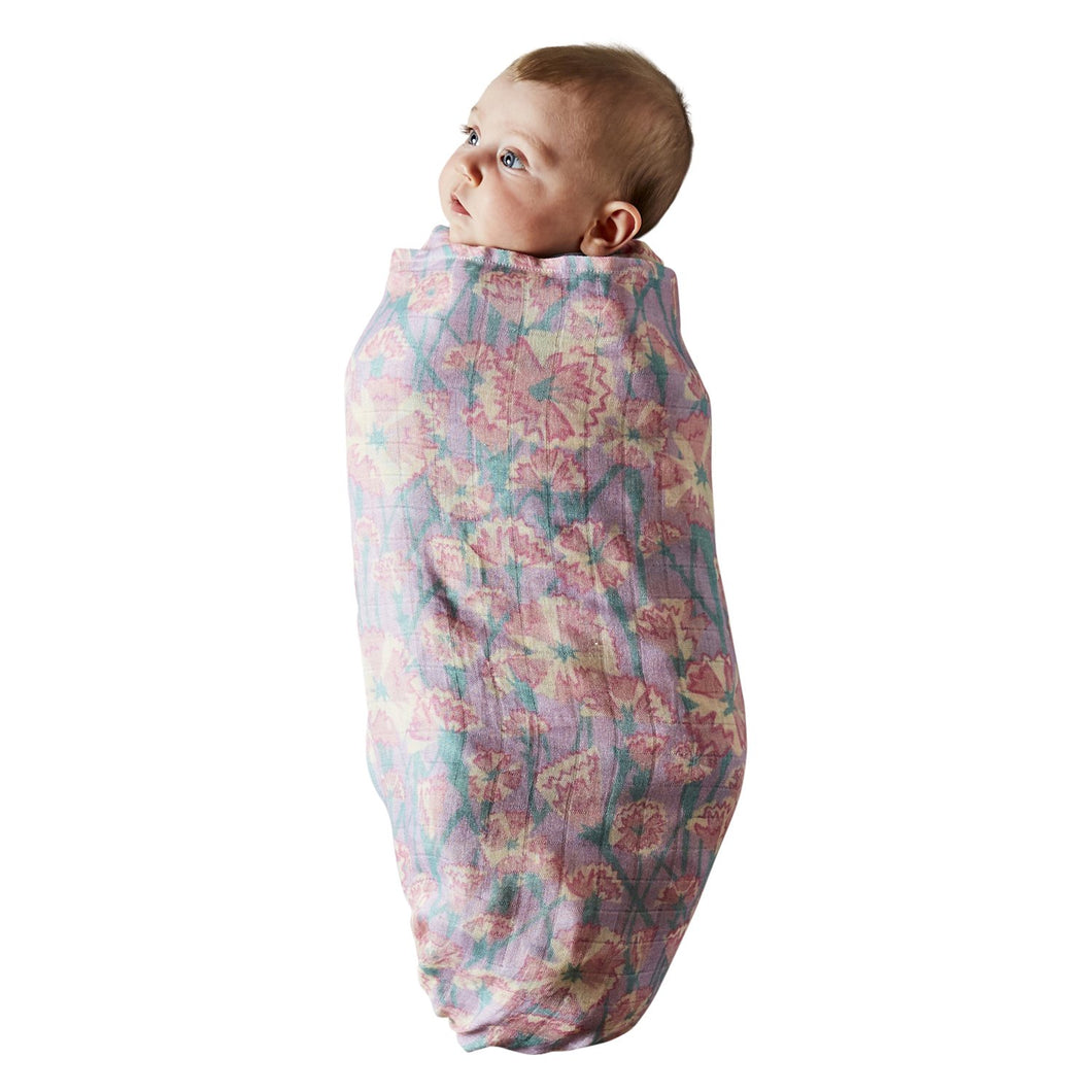 Kip & Co - Carnation Lilac Bamboo Swaddle