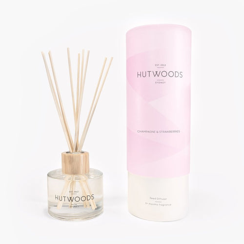 Hutwoods Reed Diffuser - Champagne & Strawberries