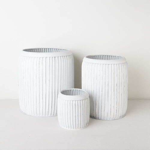 Saarde White Luca Pots - Assorted sizes